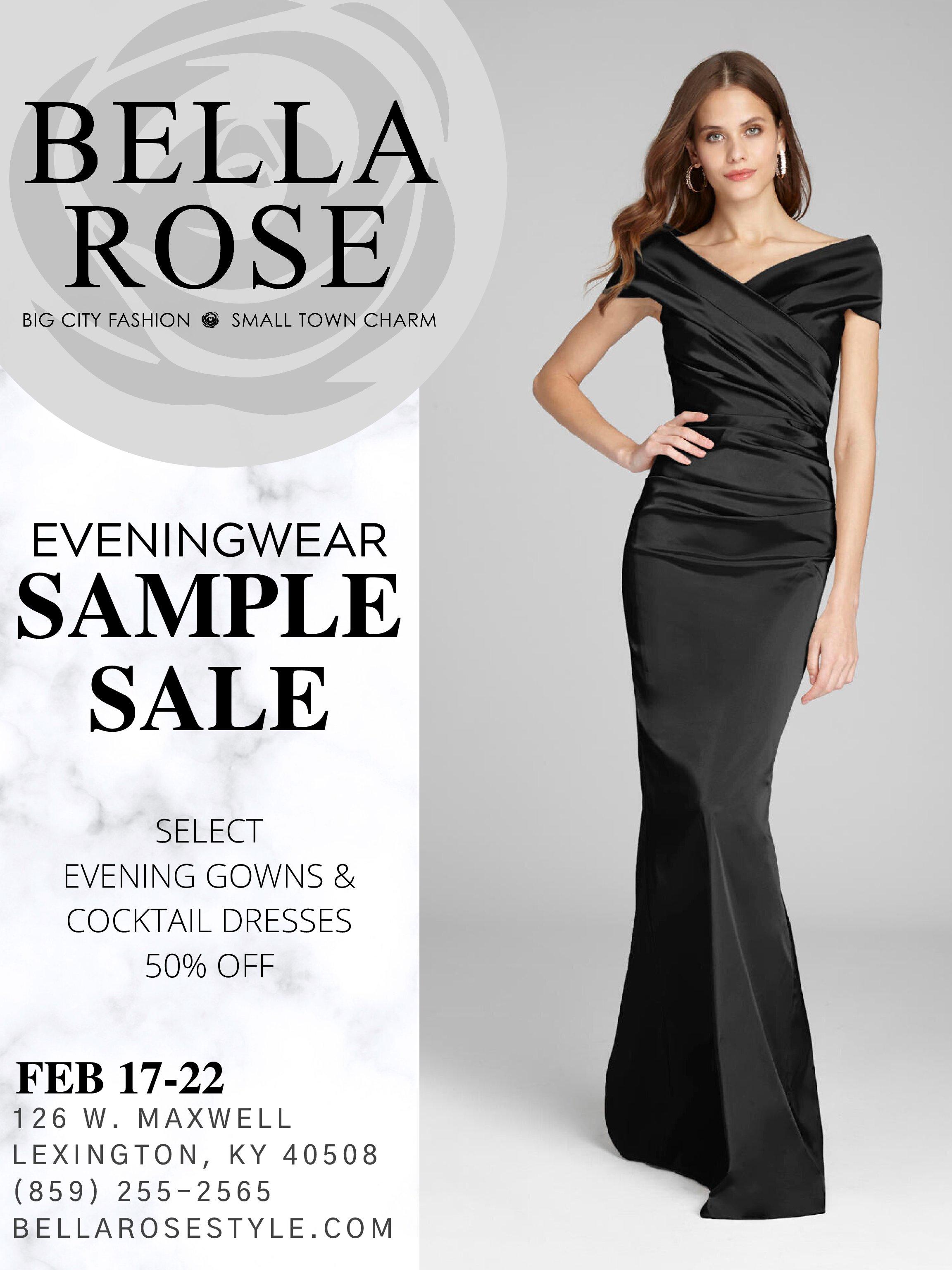 Bella Rose Eveningwear Sample Sale