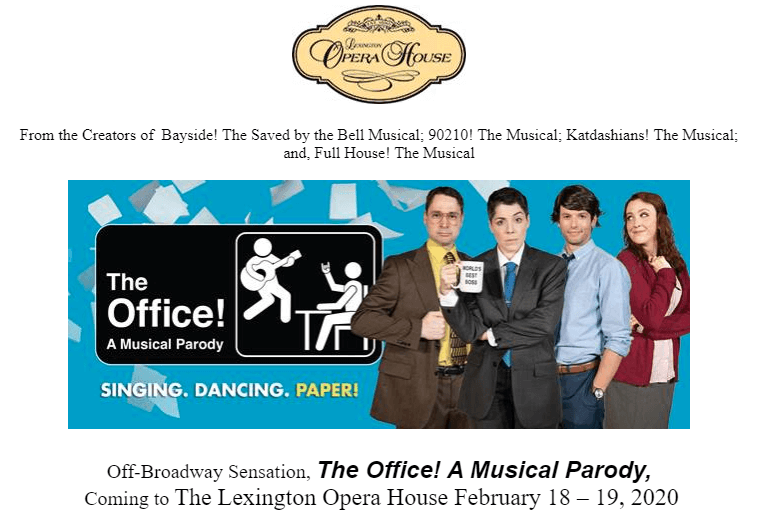 The Office Musical at The Lexington Opera House