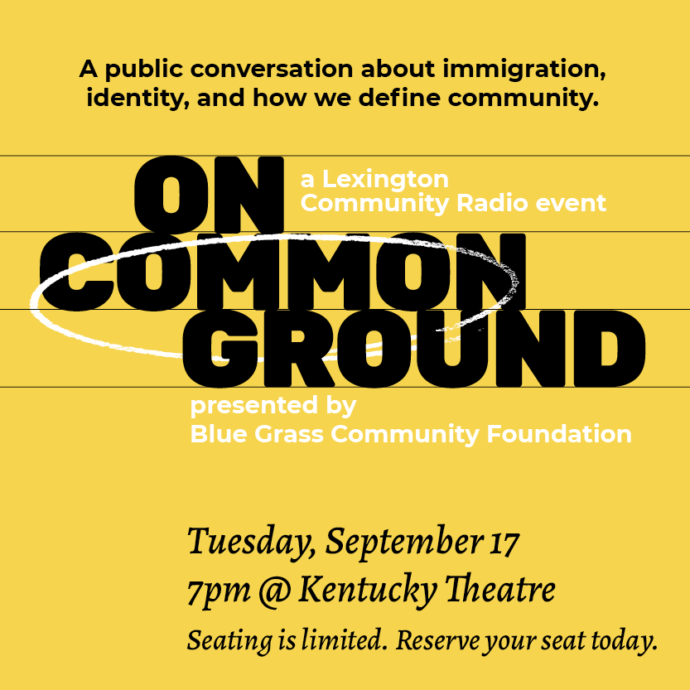 On Common Ground: A public conversation about immigration, identity, and how we define community.
