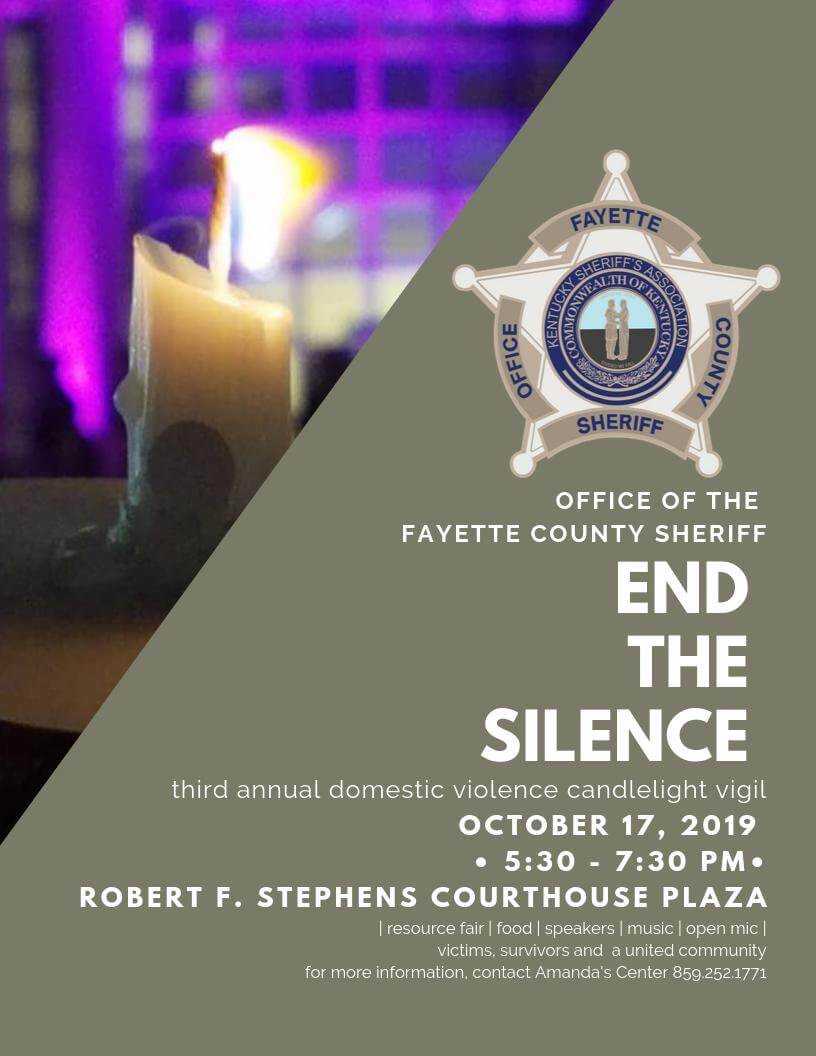 End The Silence- 3rd Domestic Violence Candlelight Vigil