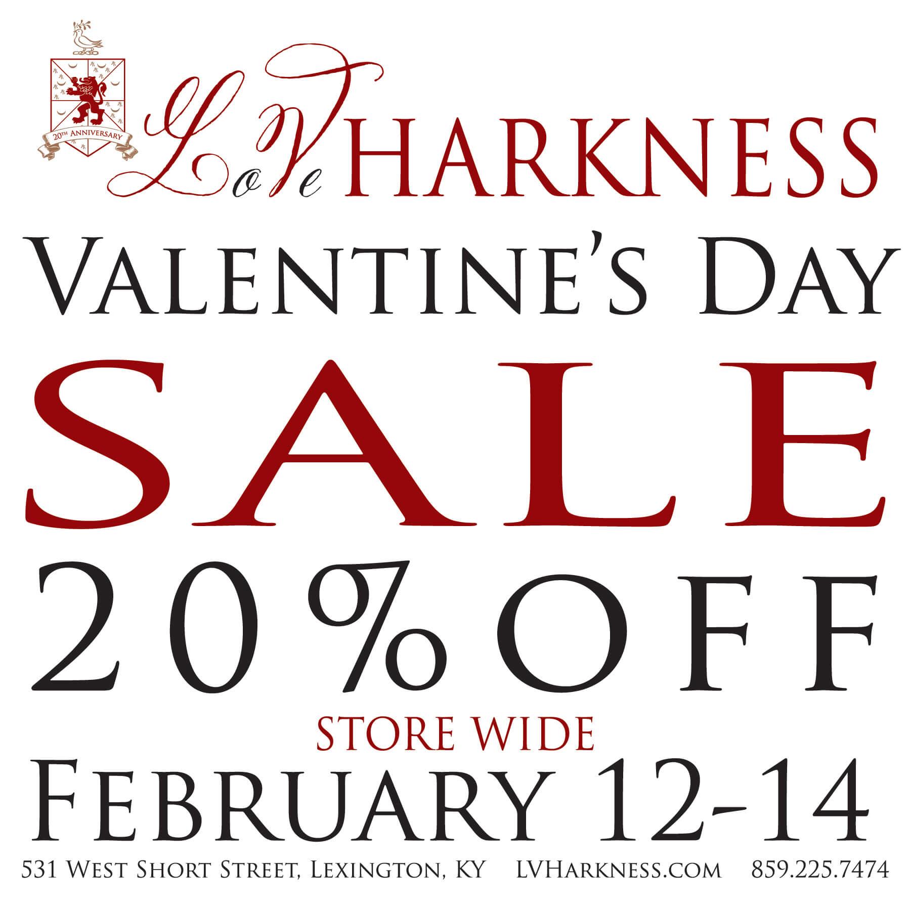L.V. Harkness Valentine's Day Sale